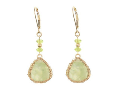 Pretty in Prehnite Gold Filled Mesh Earrings