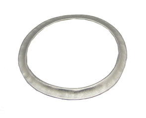 Hammered Bangle - Matte Silver