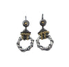 Circle & Chain Earrings - Silver