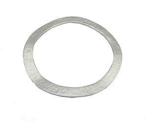 Go Hammered Silver Bangle