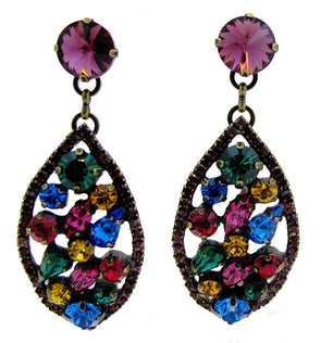 Swarovski Crystals Bejewelled Statement Earrings