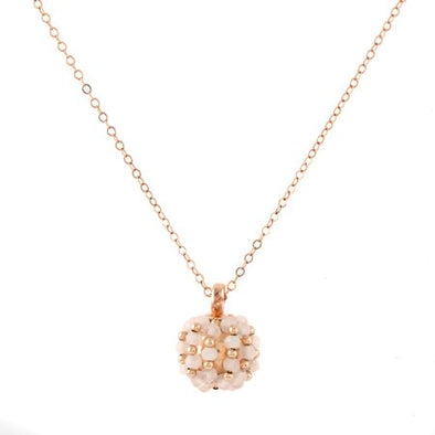 All the World's a Globe Rose Gold  Necklace