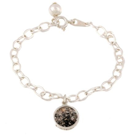 Sterling silver Bracelet with Hanging Charm