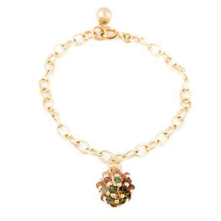 Gold Plated Sterling Silver Bracelet with Globe Charm