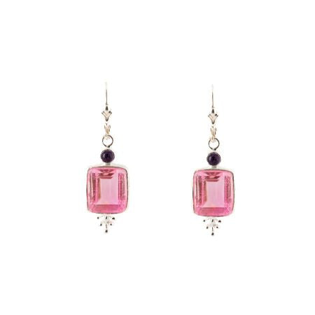 Tickled Pink Sterling Silver Earrings