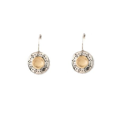Gold in the Middle Sterling Silver Earrings