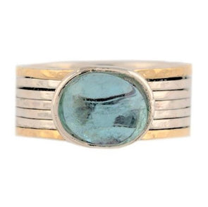 Blue Topaz Spinning Ring