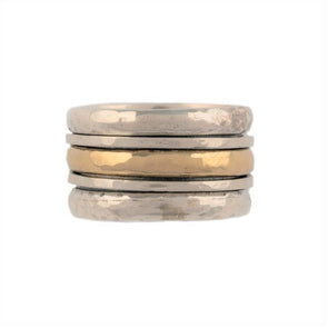 Efrat Sterling Silver and Gold Spinning Ring