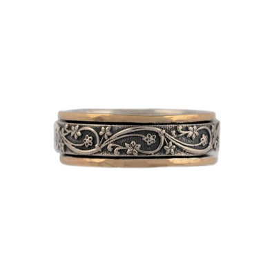 Lavon sterling Silver and Gold Spinning Ring