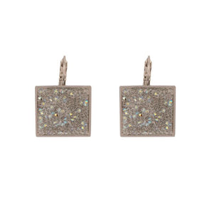 Shimmer Swarovski Fine Crystal Rock Earrings - Clear