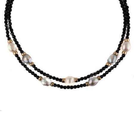Black and Blue/Gray and White Necklace