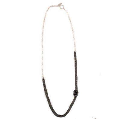 Meshed Up Necklace -Silver