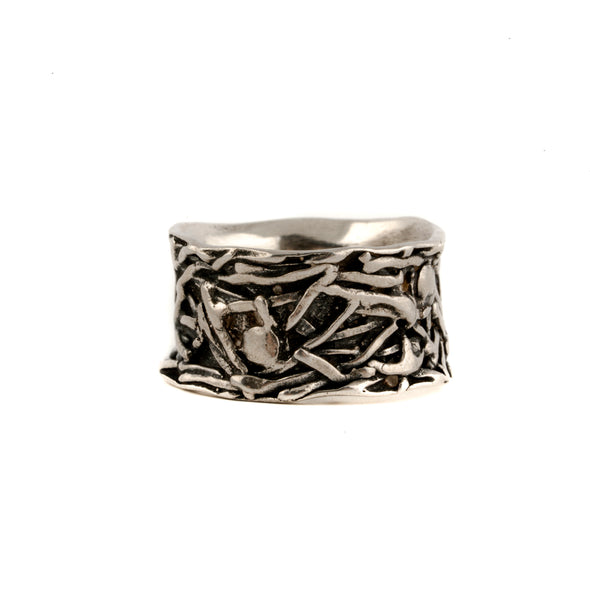 All About Texture Sterling Silver Band