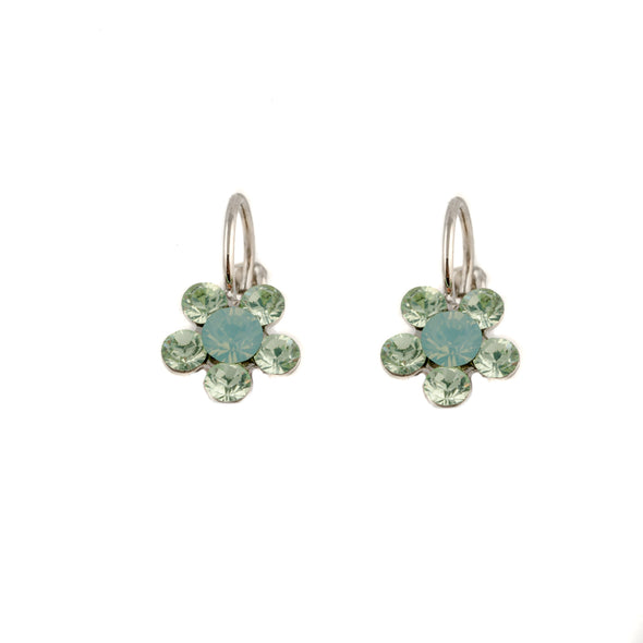 Daisy Drops - Peridot Green Swarovski Crystal Earrings