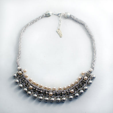 Pearly Grey Necklace