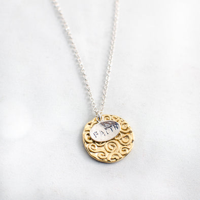 Have Faith in Gold Necklace