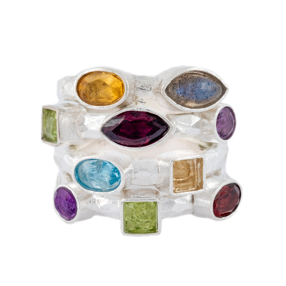 You Color My World Sterling Silver Ring