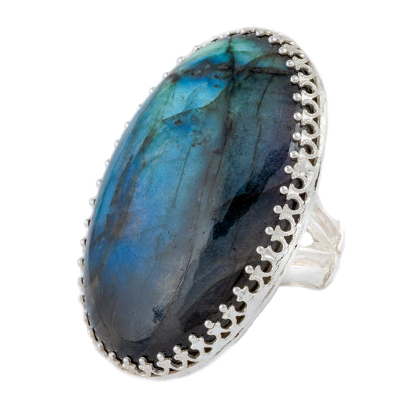 The Ultimate Sterling Silver and Labradorite Ring
