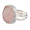 Feeling Rosy Quartz Sterling silver Ring