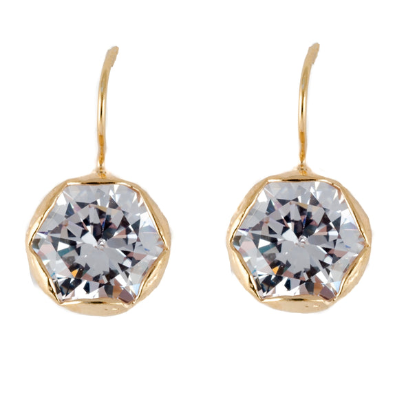 Gold plated sterling silver earrrings woth cubic zirconia
