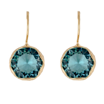 Turquoise Blue Gold-Plated Earrings