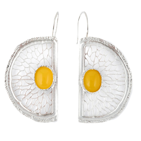 Let The Sunshine In Silver Earrings