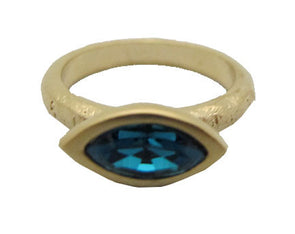 Evil eye ring.  gold plated evil eye ring with  turquoise swarovski crystal or clear swarovski crystal