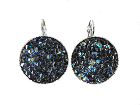 Space Age Earrings - Black/Sparkle