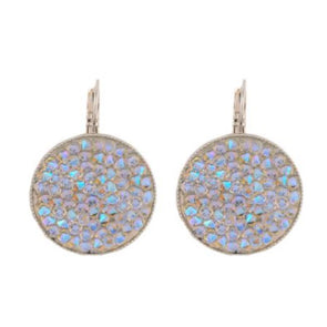Aurora Swarovski Crystal Rock Earrings