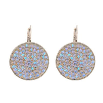 Aurora Swarovski Crystal Rock Earrings (AB)