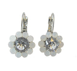 Say it with Flowers Earrings - White Opal