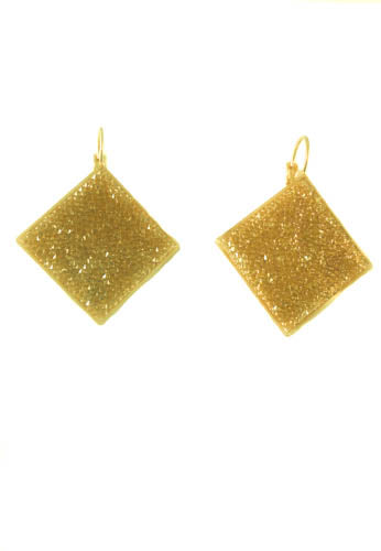 Statement Shimmer Earrings in Fine Swarovski Silver Crystals