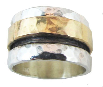 Florentine Hammered Spinning Ring