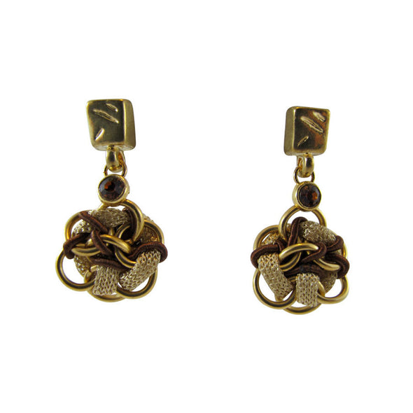 Mix it Up Drops Artisan Gold Earrings