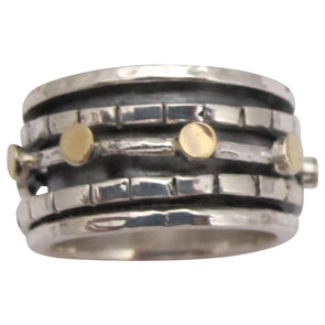 Modi'in Sterling silver spinning Ring