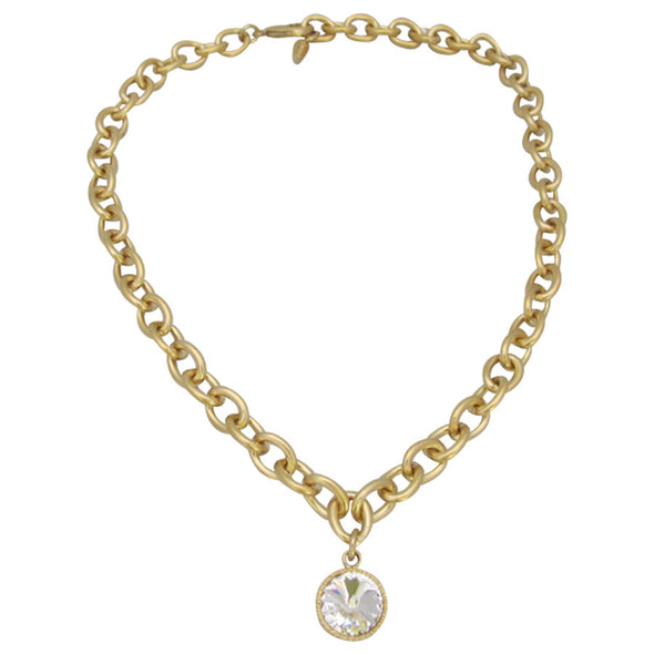 Glitz & Gold Necklace - Black Diamond