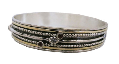 Silver and Gold Spinning Bangle