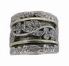 Art Deco Style Sterling Silver Meditation Ring