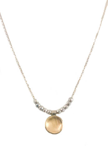 Delicate and Dainty Silver and Gold Necklace