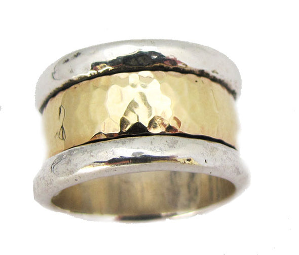 Band of Gold Spinning Ring - Silver/Gold