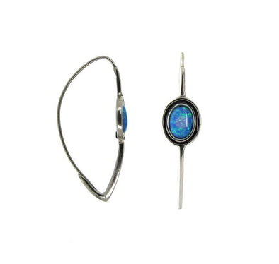 Blue is Beautiful Sterling Silver Opal Earrings