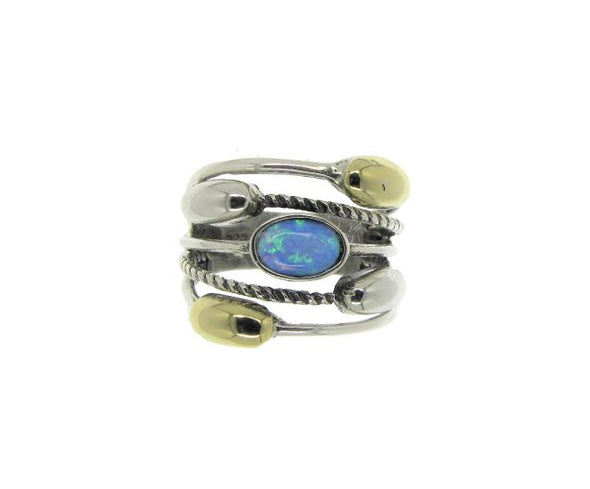 Five in One Opal Sterling Silver Ring