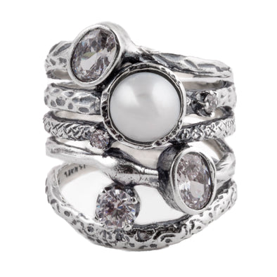 Ring Me Up Pearl Ring
