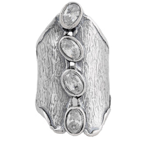 Stones in a Row Statement Sterling Silver Ring