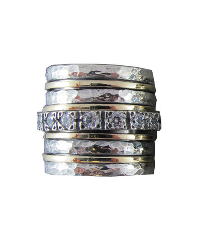 Galilee Spinning Ring - Cubic Zirconia
