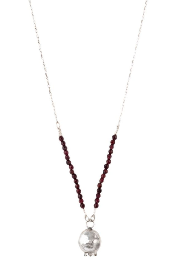 Pomegranate & Garnet Sterling Silver Necklace