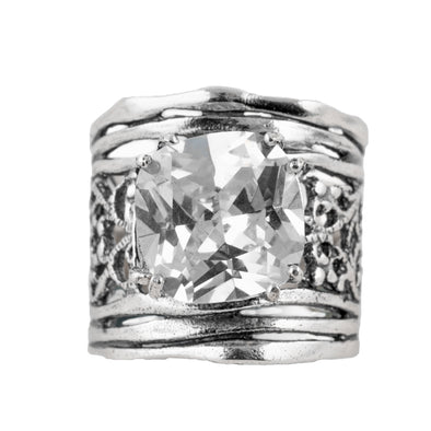 Glamour Sterling Silver Cubic Ziconia Ring