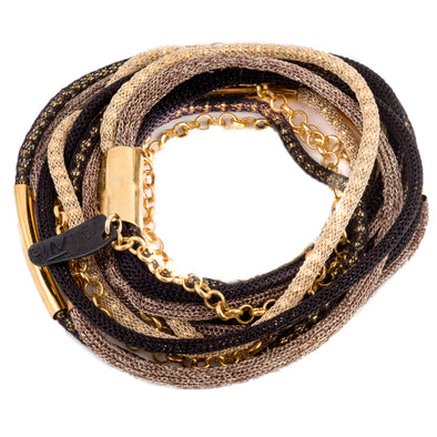 It's a Wrap Bracelet or Necklace -Gold