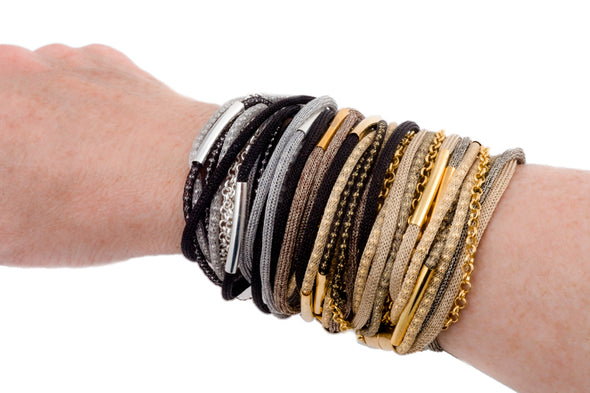 It's a Gold Wrap Bracelet