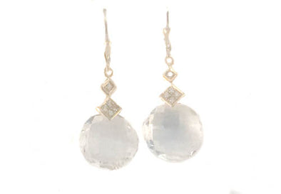 It's Crystal Clear Gold Plated Sterling Silver Earrings